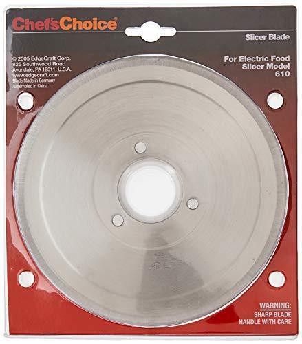 Chef'sChoice S610001 S610012 Multi-Purpose Non-Serrated Blade for Models 607, 607E, 609, 609E, 610, 6102, 615, 615A Food Slicer, 7-inch, Silver