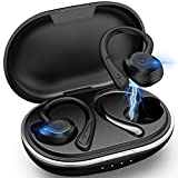 Muzili Bluetooth 5.0 Kopfhörer Sport[2020 Neuestes Modell] Kopfhörer Sport Joggen IPX7 Wasserdicht Sport Kopfhörer Kabellose In Ear 36 Stunden Spielzeit mit Ladebox für Alle Smartphone