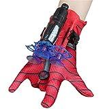 KKPLZZ Spiderman Launcher Glove, Kids Plastic Cosplay Glove Hero Launcher Giocattoli da Polso Set Ottimo Regalo per i Fan di Spiderman, Giocattoli educativi per Bambini