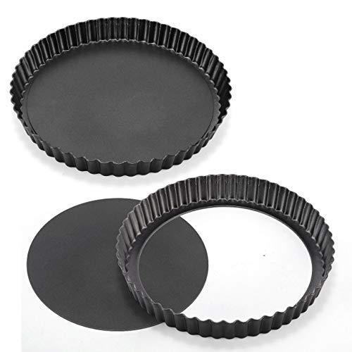 WisFox 2 Pack antiadherentes 8.8 pulgadas Quiche Tart Pan, e
