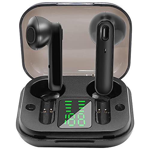 AMBW Ture Wireless Earbuds Bluetoooth 5.0 Headphones 30H Cycle Playtime Hi-Fi Stereo IPX5 Waterproof Sweatproof Earphones Sport Headsets Built-in Mic for Work/Running/Travel