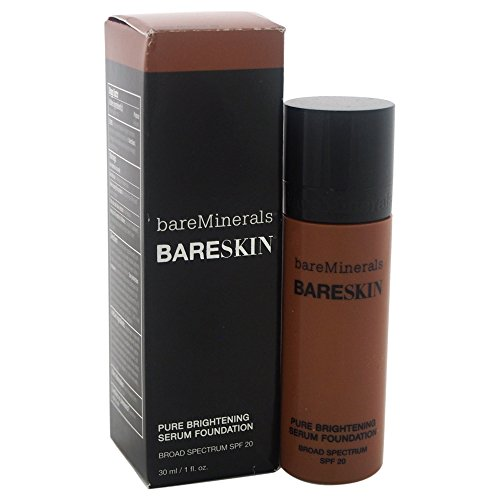 bareMinerals Pure Brightening Serum SPF 20 All Skin Types Bare Mocha 20 Foundation for Women, 1 Fl Oz