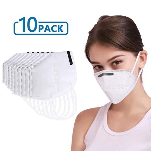 KN95 Maschera autoadescante tipo filtro antiparticolato maschera standard per la pulizia fai da te costruzione, uso domestico, falciatura del legno e più polvere maschera viso
