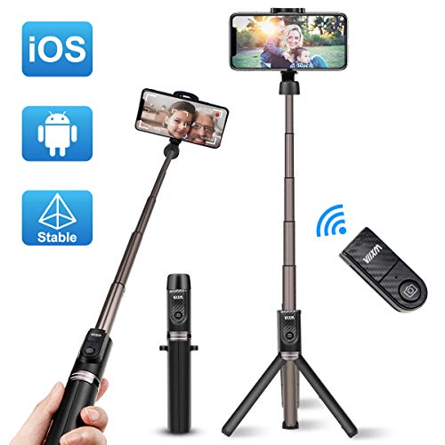 Viixm Perche Selfie Bluetooth, Selfie Stick Trépied Alliage d'Al Support...