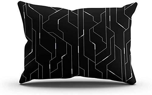 Dkisee, federa per cuscino lombare casuale e futuristico hi tech per la casa e il divano, Cotone,...