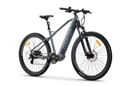 Moma Bikes Bicicleta Eléctrica E-MTB 29', Shimano 24vel, frenos hidráulicos, batería Litio 48V 13Ah (624Wh)