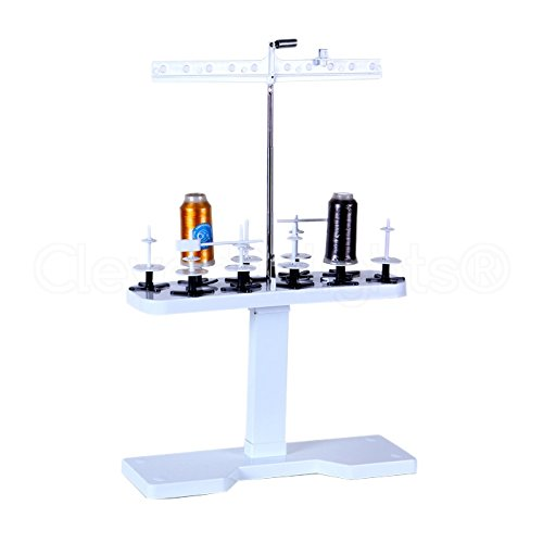 CleverDelights 10 Spool Thread Stand - SA503 Replacement - Compatible with Brother PE700 PE700II PE770 SE270D SE350 Quattro 6000D LB6770PRW and More