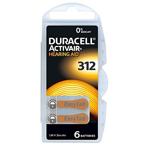 Duracell Hearing Aid Batteries Size 312, 60 Count...