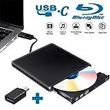 Tokenhigh Externe Graveur Lecteur CD DVD Blu Ray 3D, USB 3.0 Type C...