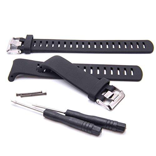 vhbw TPE Ersatz Armband kompatibel mit Suunto D4, D4i Fitnessuhr, Smartwatch - 16.3cm + 13,2 cm schwarz