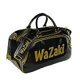 wazaki Japan Black Gold Turf Line Waterproof Classic Duffle Golf Bag with Pockets(50X25X30 CM3)
