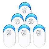 Shootingstar Ultrasonic Pest Repeller Indoor 6 Pack, Pest Repellents Ultrasonic Plug in, Ultrasonic Pest Control Pest Destruct for Mice, Rats, Rodents, Ants, Spiders and Cockroaches