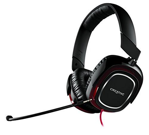 Creative Labs Draco HS880 Biauricular Diadema Negro, Rojo - Auriculares con micrófono (PC/Juegos,...