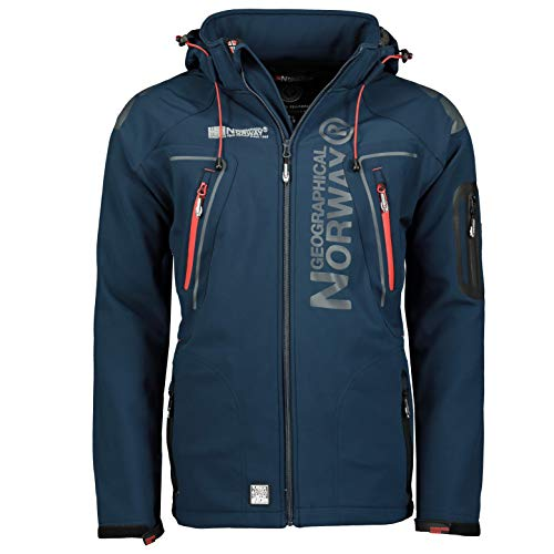 Geographical Norway Techno Softshell Veste Homme Capuche Detachable (M,...