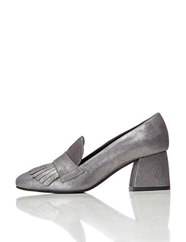 find. Mocassins Talons Femme, Argent (Silver), 36 EU