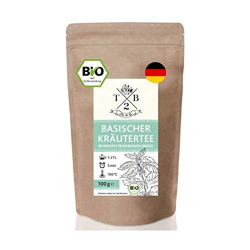 Basischer Kräutertee in Bio-Qualität zur basischen Ernährung mit Brennnessel, 100g (Ca. 40 Tassen) – Tea2Be by Sarenius