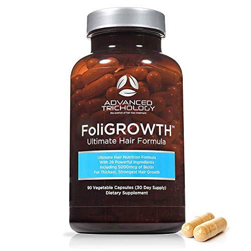 FoliGROWTH Ultimate Hair Nutraceutical – Get Thicker Hair, Reverse...