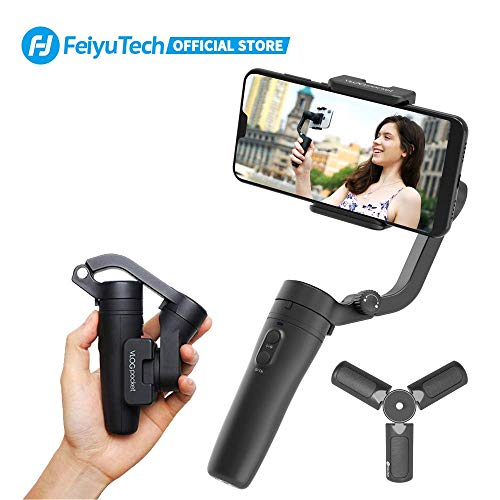 FeiyuTech Vlopocket Stabilizzatore Gimbal,Lightest 3 Assi Stabilizzatore Smartphone Adatto iPhone/Samsung/Huawei