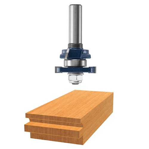 Bosch 85622M Beading Rail Assembly, 3/4 and 7/8 THK Wood, 1-5/8-Inch Diameter, 1/2-Inch Shank, 57/64-Inch Cut Carbide Tipped Router Bit