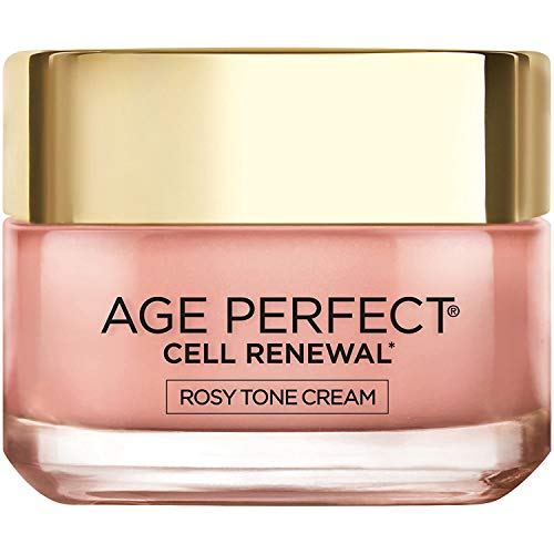 Face Moisturizer by LOreal Paris Skin Care I Age Perfect Rosy Tone Moisturizer for Face for Visibly Younger Looking Skin I Anti-Aging Day Cream I 1.7 oz. - Packaging May Vary