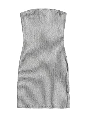 Material: Stretchy and soft material, comfortable to wear Features: strapless, above knee, mini length, slim fit, rib knit dress, t-shirt dress Occasions: basic and classic summer dress, multipurpose dress, suit for different occasions such as casual...