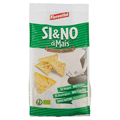 Fiorentini - Triangoli di mais al sale marino da agricoltura biologica - 12 confezioni da 100 Grammi