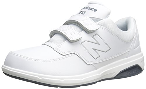 New Balance Men's 813 V1 Hook and Loop Walking Shoe, White, 12 W US
