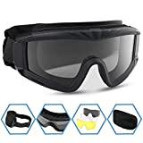 XAegis Airsoft Goggles, Tactical Safety Goggles Anti Fog Military...