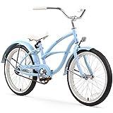Firmstrong Urban Girl Single Speed Beach Cruiser Bicycle, 20-Inch, Baby Blue