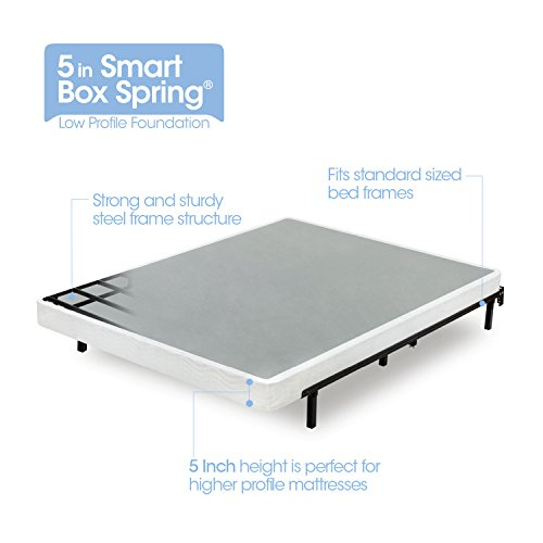 Zinus Armita 5 Inch Low Profile Smart Box Spring / Mattress Foundation / Strong Steel Structure / Easy Assembly Required, Twin XL