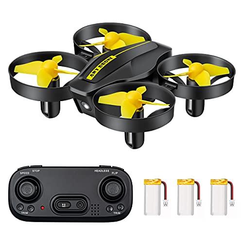 DEVASO Mini Drone per Bambini, Quadricottero RC con Telecomando, Funzione Hovering, Rotazione del Cerchio, 3D Flip, Decollo/Atterraggio a Un Tasto, Velocit Regolabile, Adatto ai Principianti (Nero)
