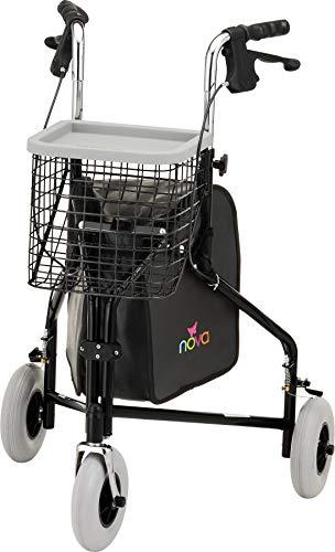 NOVA Traveler 3 Wheel Rollator Walker,...