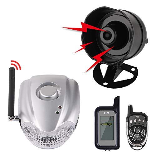 Autopmall Auto-Alarmanlage, automatische Sicherheit, 2-Wege-Fernbedienung, kabellos, Alarm Schockalarm ohne Installation