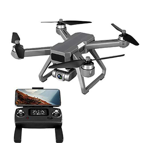 tyuiop Drone Aereo con Posizionamento GPS, Quadricottero RC con Streaming 4K HD Motore Brushless, Gimbal Antivibrazione Auto Stabilizzante