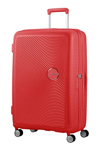 American Tourister Soundbox Spinner Large Expandable Bagaglio A Mano, Rosso (Coral Red),Spinner L...