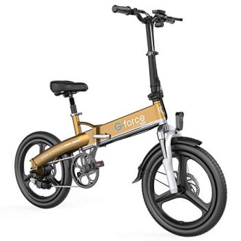 G-Force Electric Bike T11,20 Foldable, 48V 10.4A Large Battery, Upgraded Version of 350W high-Power Motor City Commuter E Bike