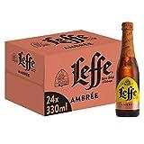 Leffe Ambree Birra, Bottiglia - Pacco da 24 x 330 ml