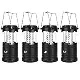 Lighting EVER Le Lampe de Camping LED Portable, Lot de 4, Lanterne LED...