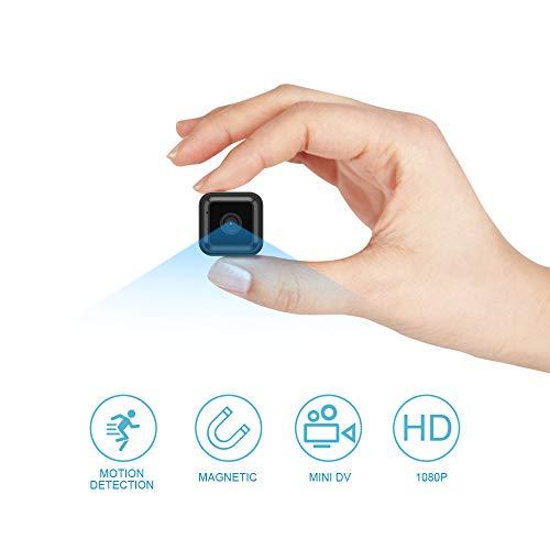 Mini Telecamera Spia, OWSOO HD 1080P Telecamera Spia Nascosta con Visione notturna/Rilevamento del movimento Mini Camera spia, Portatile Microcamere Spia Interno Esterno