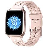 ASWEE Smartwatch für Damen und Herren, Fitness-Tracker mit Blutsauerstoff, Herzfrequenz und Schlafmonitor, Schrittzähler, Uhr mit 5 ATM wasserdicht, Smartwatch kompatibel mit iPhone Android Handys