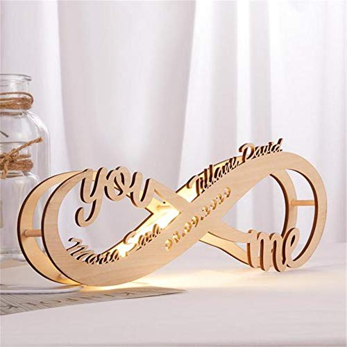 Personalized Infinity I Love You Decor LED Night Light Wall Hanging...