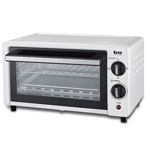 TM Electron, Mini forno tostapane, 800W, 10 L di capacit, 3modalit di riscaldamento bianco
