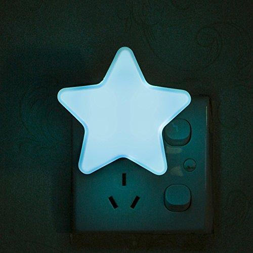 Fibgihc Luz LED de emergencia, luz nocturna, linda estrella de ABS, lámpara de recámara para...