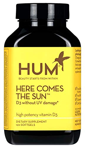 HUM Nutrition - Here Comes the Sun - 2000 IU Bioavailable D3, 120 Softgels