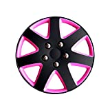 Jeu d'enjoliveurs Michigan 13-inch noir matte/rose