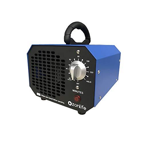 Generatore Commerciale di Ozono Ozonizzatore 6000mg Deodorante Sterilizzatore Industriale O3 per Purificatore d'aria per camera, fumo, auto e domestici