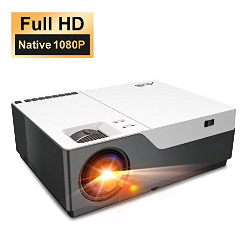 """Native 1080P Projector - Artlii Full HD Projector for PowerPoint Presentation, 300"""" Home Theater Projector with True to Life Color, Zoom HDMI, Compatible with Fire TV Laptop PS4 iPhone"""
