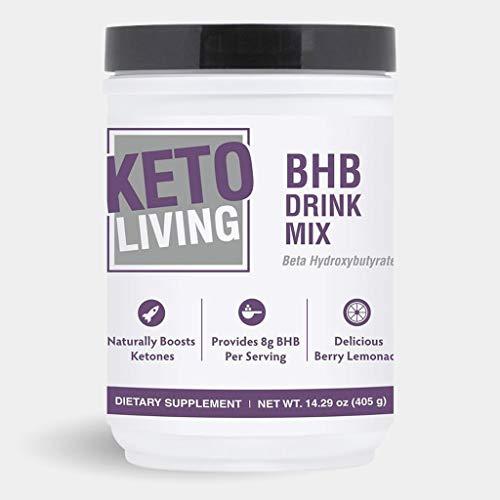 KetoLiving BHB Berry Lemonade Drink Mix - 14.3 oz - Ketone Boosting Drink Mix - Promotes Fat Burning, Appetite Control & Increased Energy - Vegan, Non-GMO, Gluten-Free, Vegetarian - 30 Servings 1