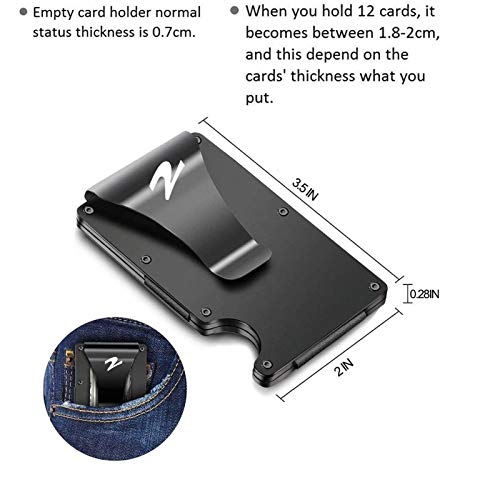 1 Metal Wallets for Men RFID Blocking Clip Wallet
