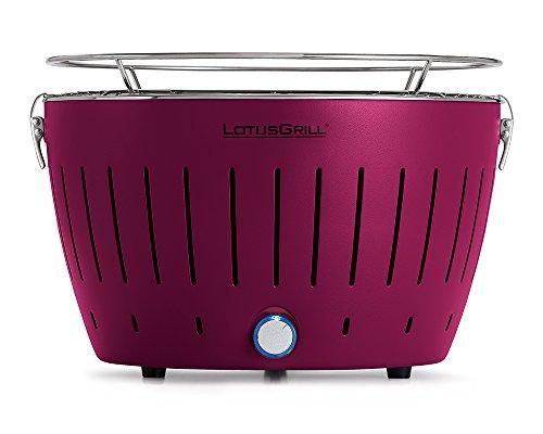 LotusGrill - Barbacoa de carbón sin Humo Classic - Púrpura, Estándar